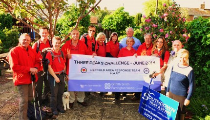 HENFIELD HART Three Peaks team, supporters and sponsors at The W