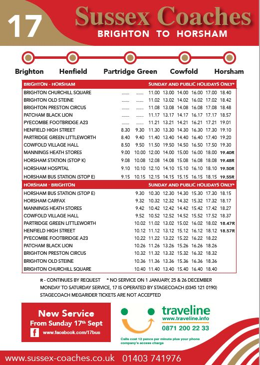 17 Timetable